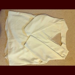 Tops - C&E white blouse with triangle cut out